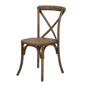 The Wood Cross Back Chair