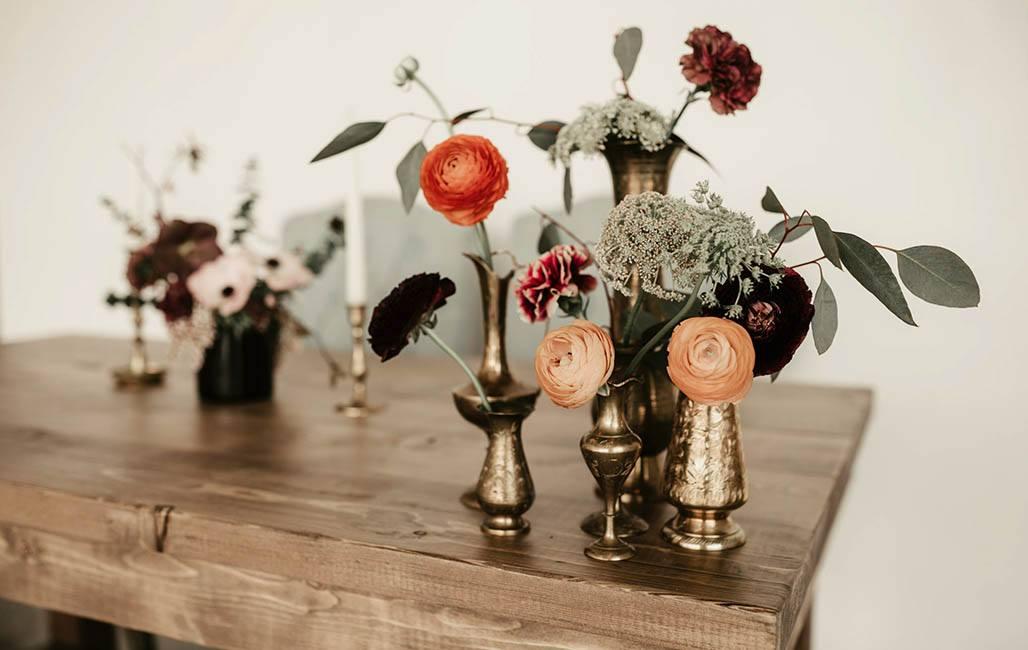 Flowers Vases Wedding Rental