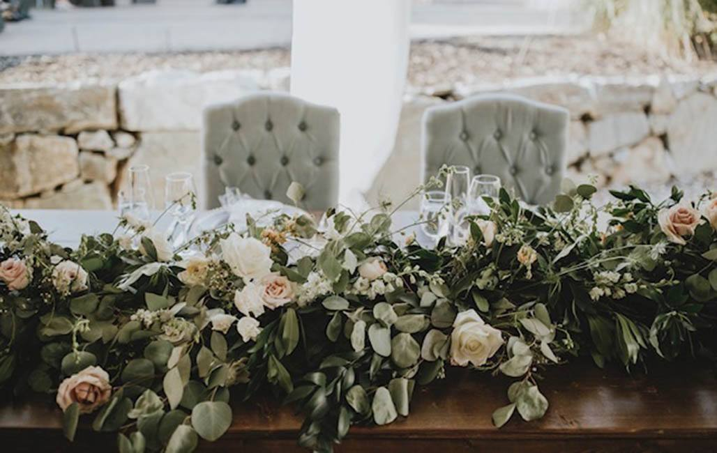 Head Table Flowers Wedding Rental