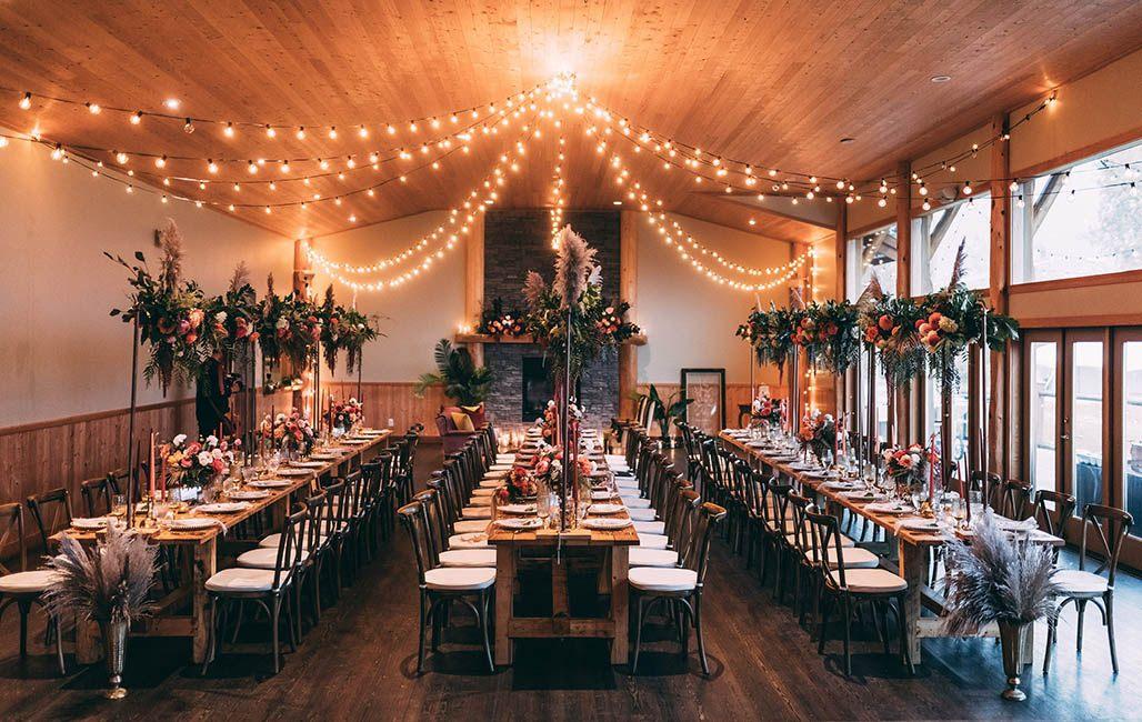 Indoor Tables Lighting Wedding Rental