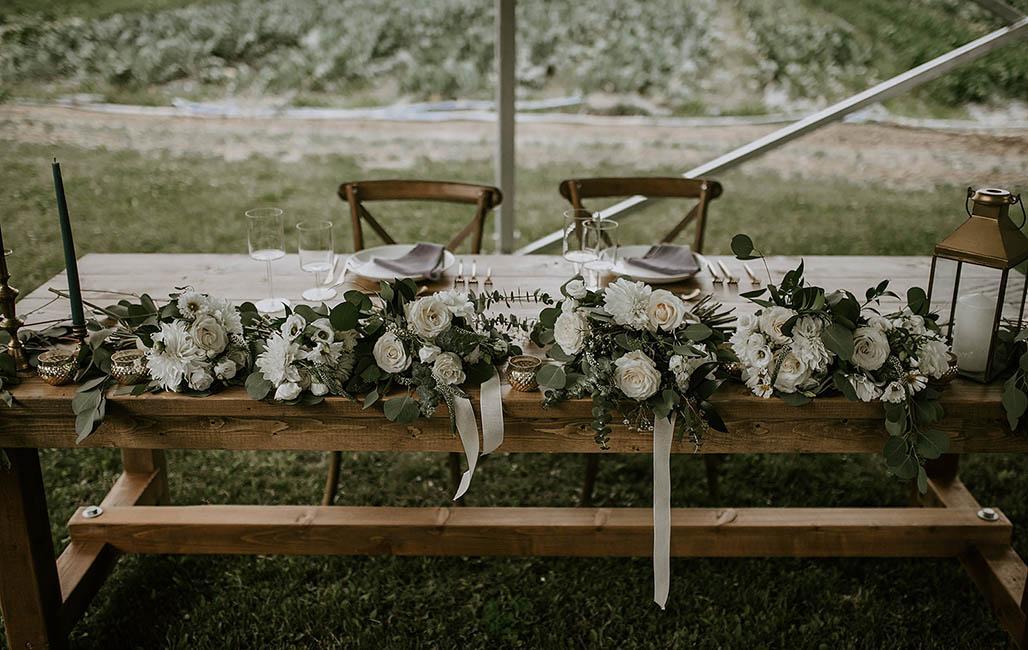 Outdoor Head Table Wedding Rental
